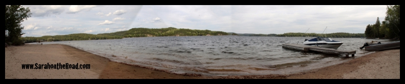 Panorama of Haliburton Lake Beach