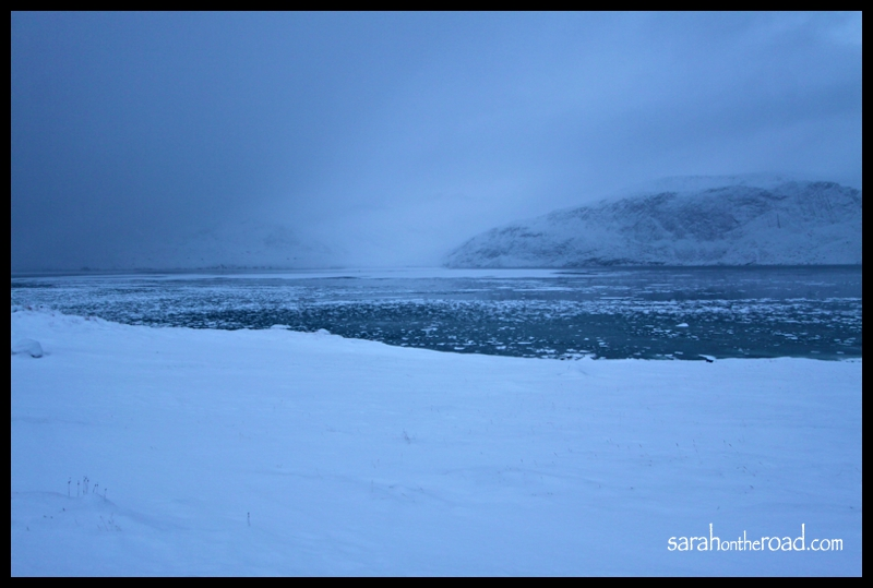 Pangnirtung walking to the end of the road