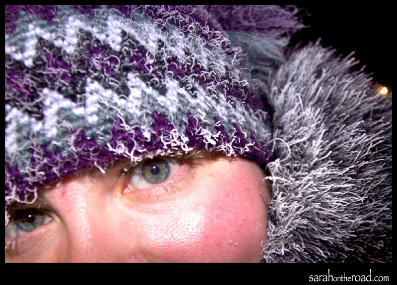 ...frosty snap...self portrait