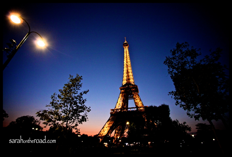 Eiffel Tower at night..
