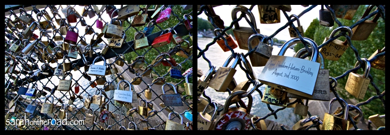 locks on Pont des Arts