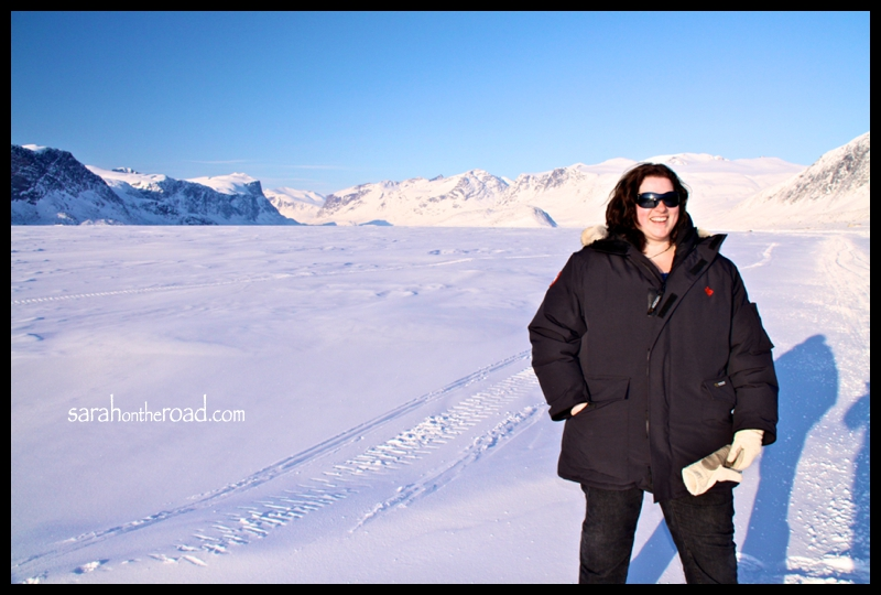 First time walking on the Pangnirtung Fjord!
