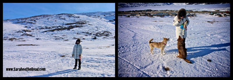 Walking in the hills of Pangnirtung