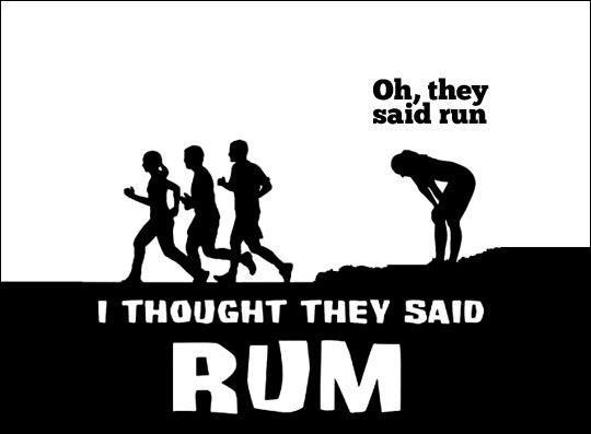 oh they said run!