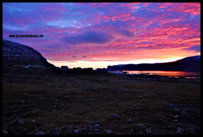 sunset in Pangnirtung