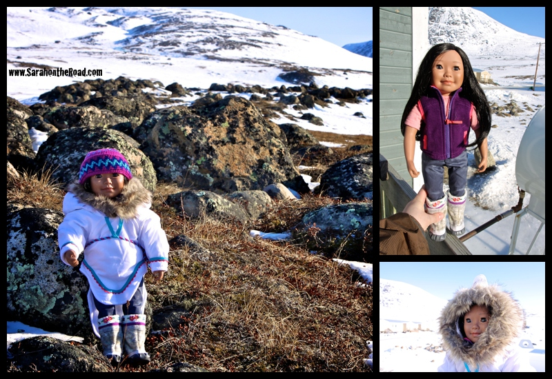 Saila Doll outside in my backyard in Pangnirtung