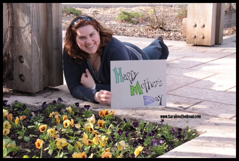 Sarah with some Pansies
