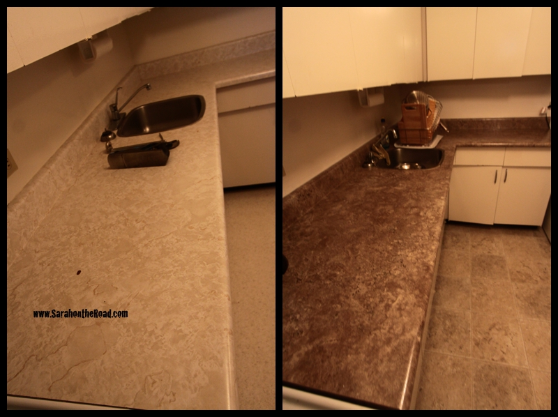 Before and After of the counter