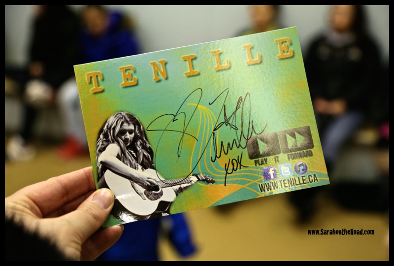 Tenille signed card...