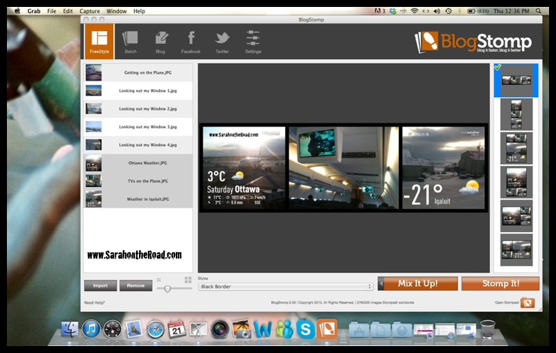 screen shot of blogstomp
