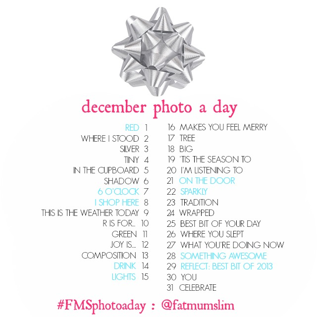 December Photo-A- Day List
