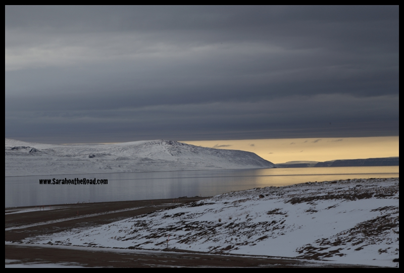 ...Wednesday night, capturing the sunlight beneath the clouds before learning Arctic Bay.